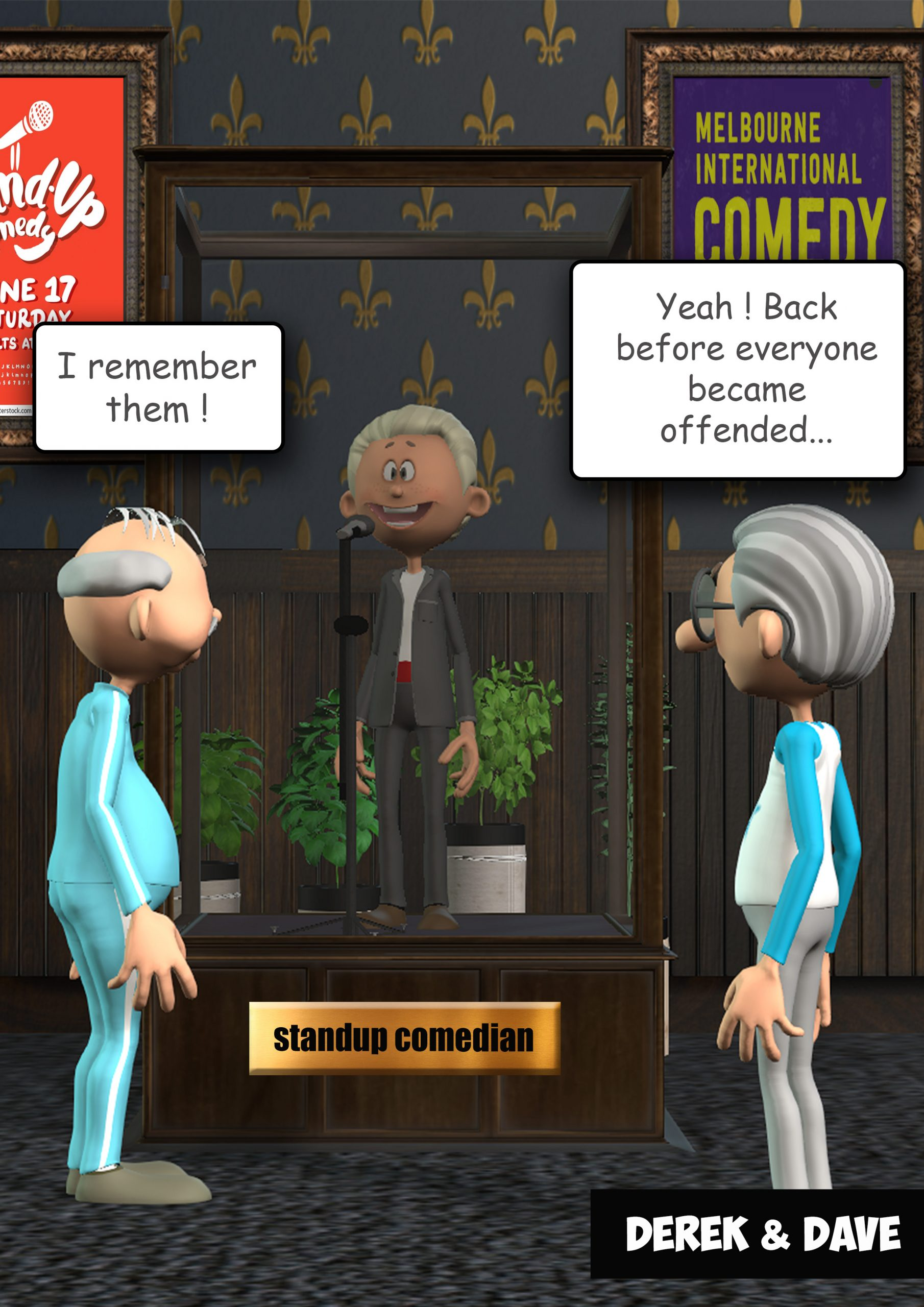 Comedian Display