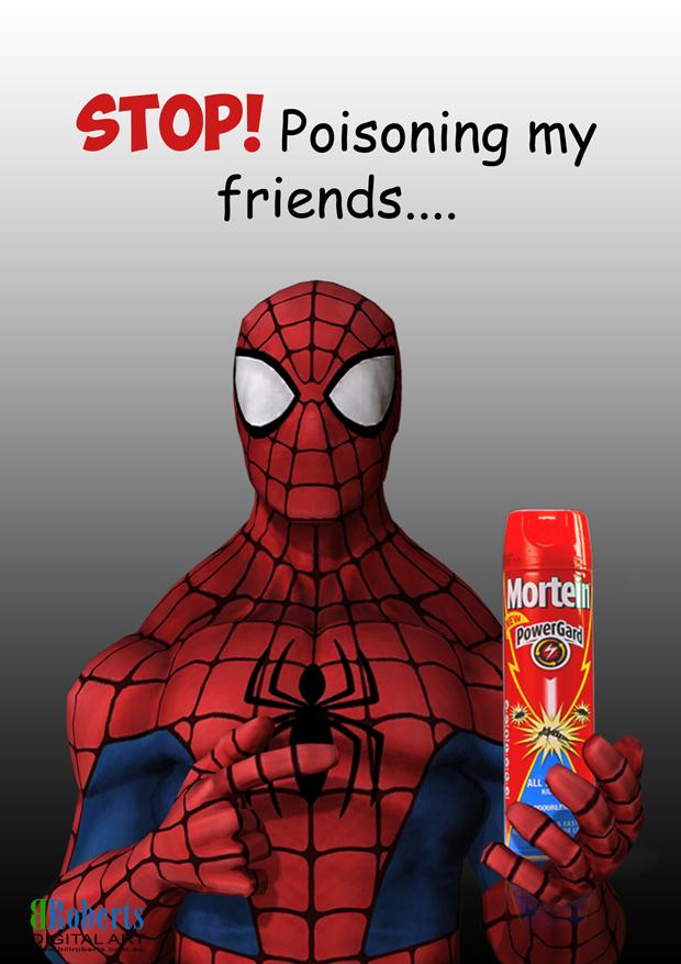 Spiderman-Flyspray